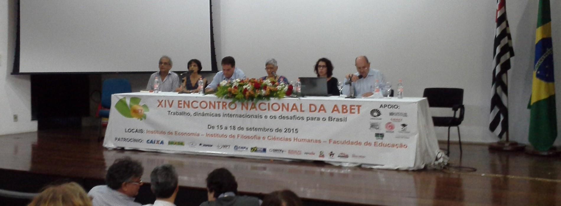 Encontro Nacional da ABET na Unicamp debate o mundo do trabalho