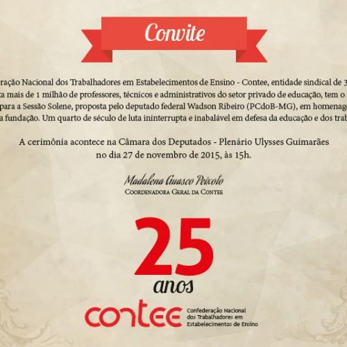 Sessão Solene homenageia os 25 anos da Contee