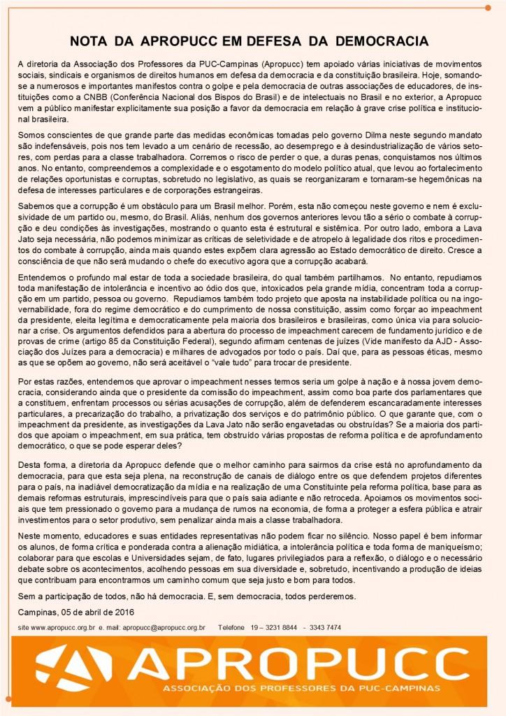 NOTA APROPUCC DEMOCRACIA 5