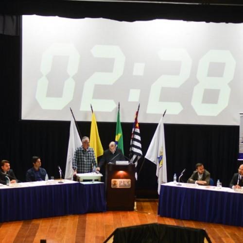 Candidatos a vereador do PSDB, DEM, PV, PT e PSDC participaram de sabatina