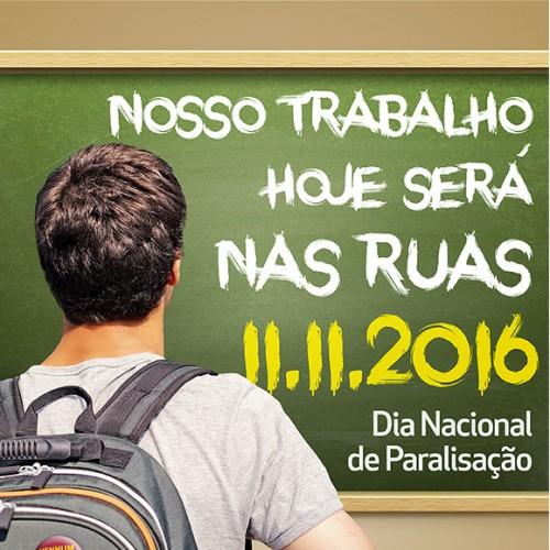 Por nenhum direito a menos: dia 11/11 nosso trabalho será nas ruas!