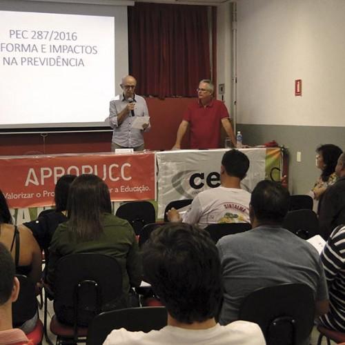Reforma da Previdência não considera a realidade da população mais pobre, diz diretor da Apropucc