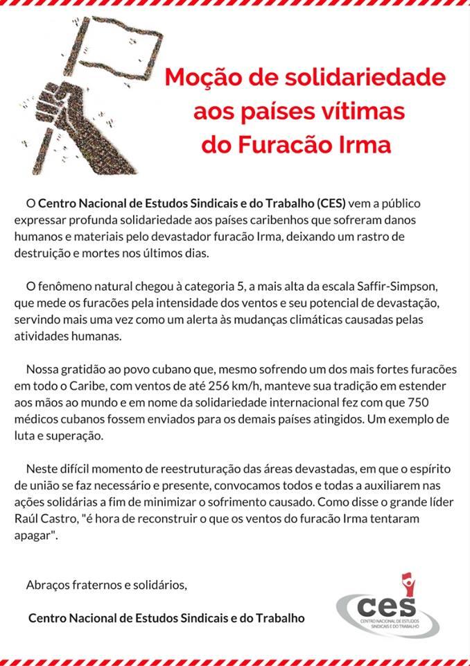 CES_mocao_apoio_vitimas_furacao