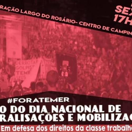 10 de Novembro: Dia Nacional de Paralisações e Mobilizações
