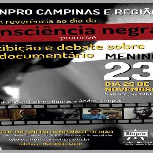 "Sinpro Campinas promove cine debate do documentário ""Menino 23"""