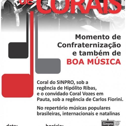 Encontro de Corais no Sinpro vai encerrar o ano e garantir noite de boa música