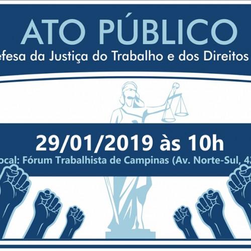 Ato Público em defesa da Justiça do Trabalho e Direitos Sociais