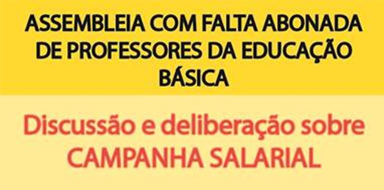 Dia 28/08 tem assembleia dos Professores da Educação Básica