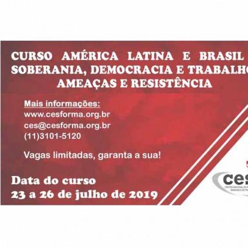 """Curso de Formação sobre """"América Latina e Brasil: Soberania, Democracia e Trabalho"""""""
