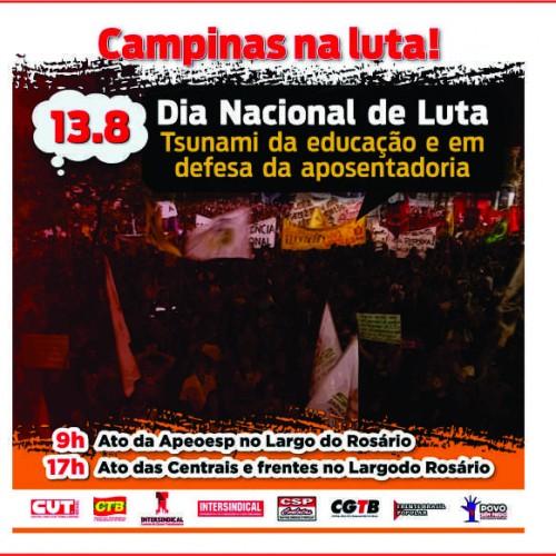 #13A – Dia Nacional de Luta pela Educação e Aposentadoria (Campinas)