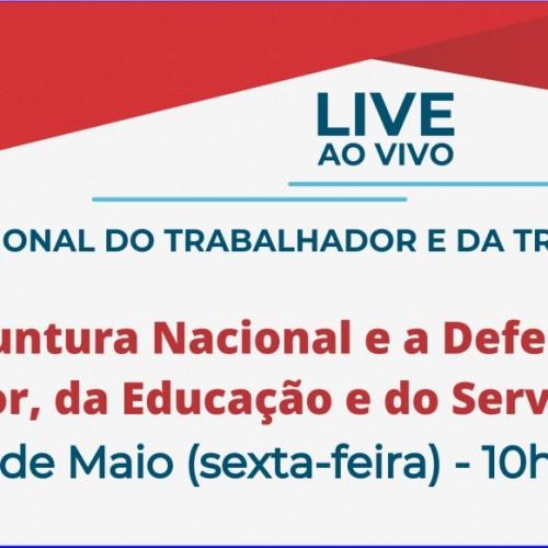 """Apropucc participa da Live ao Vivo """"Conjuntura Nacional e a Defesa do Trabalhador, da Educação e do Serviço Público"""""""