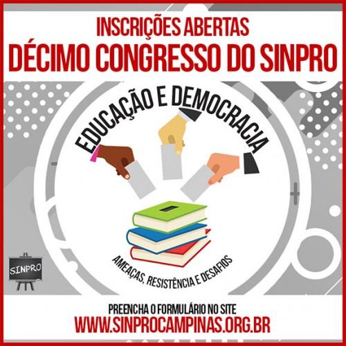 10º Congresso do Sinpro Campinas e região: inscrições abertas