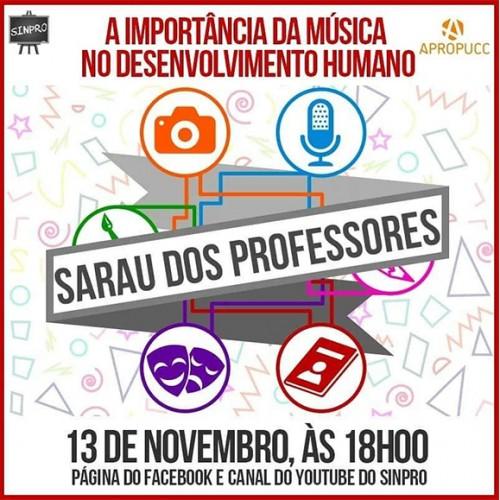 Sarau do Professor: A importância da música no desenvolvimento humano