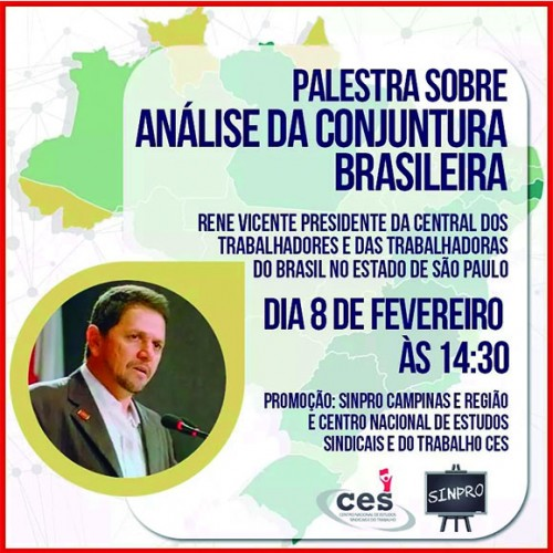 Sinpro promove palestra sobre Conjuntura Nacional
