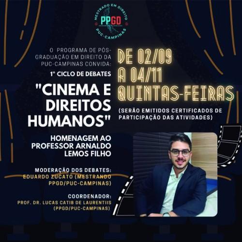 """1º Ciclo de Debates """"Cinema e Direitos Humanos"""""""