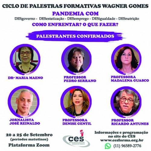 CES | Palestras Formativas discutirão a pandemia e o desgoverno